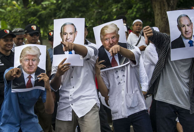 INDONESIA-US-ISRAEL-PALESTINIANS-CONFLICT-DIPLOMACY-PROTEST