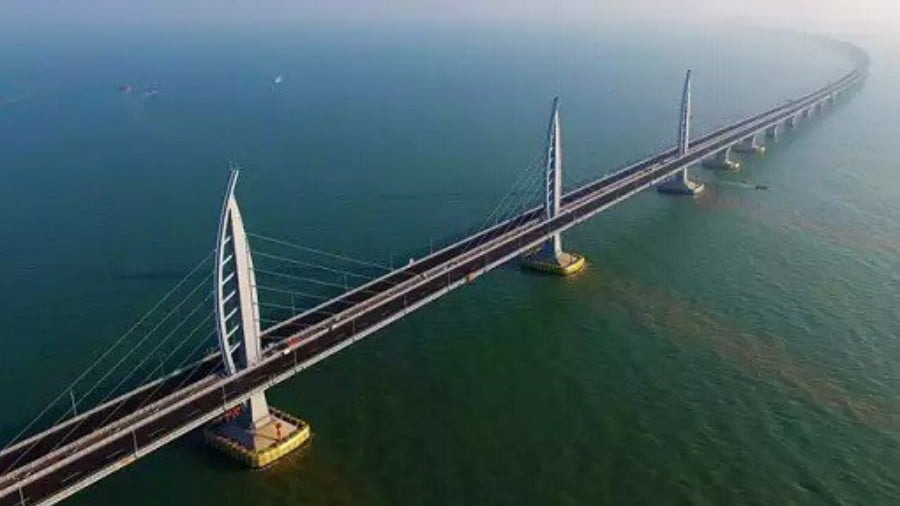 Engineering Marvel: After 100 Billion Yuan, China's & World's Longest Sea Bridge Is Now Completed
