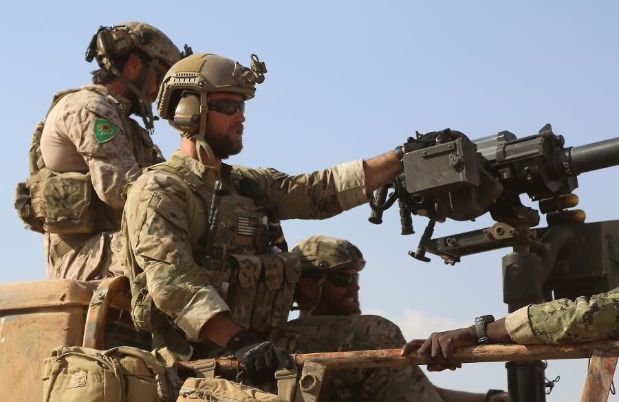US special forces in Syria wearing Kurdish insignia