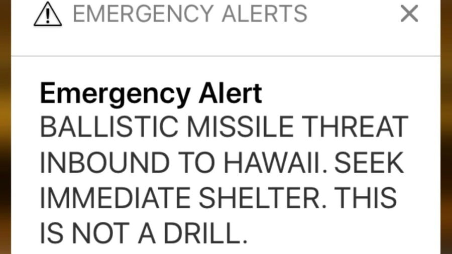 The Missile Alert in Hawaii: Thirty-Eight Minutes of Chaos