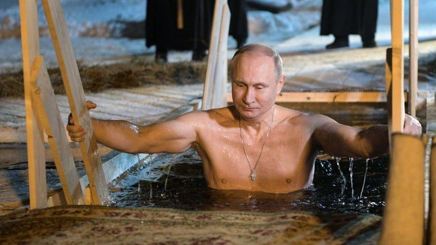 Vladimir Putin's Ice Bath Ritual Perplexes American Journalists