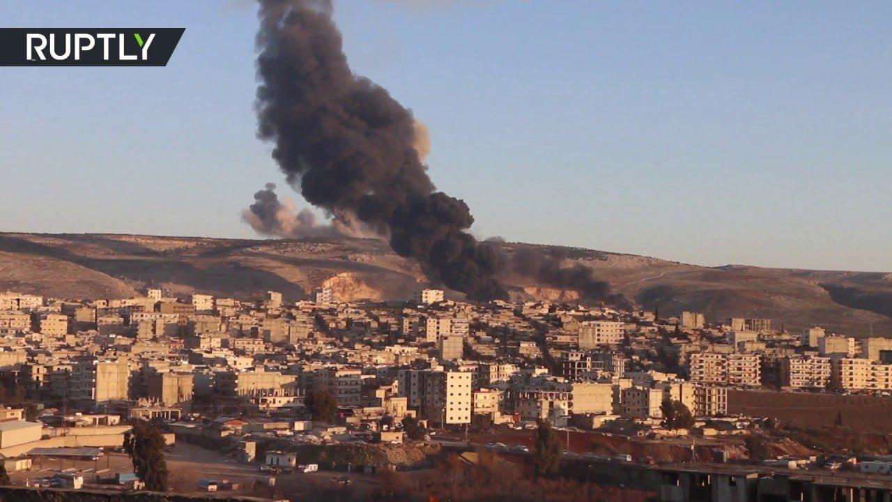 Afrin after Turkish F-16 airstrike