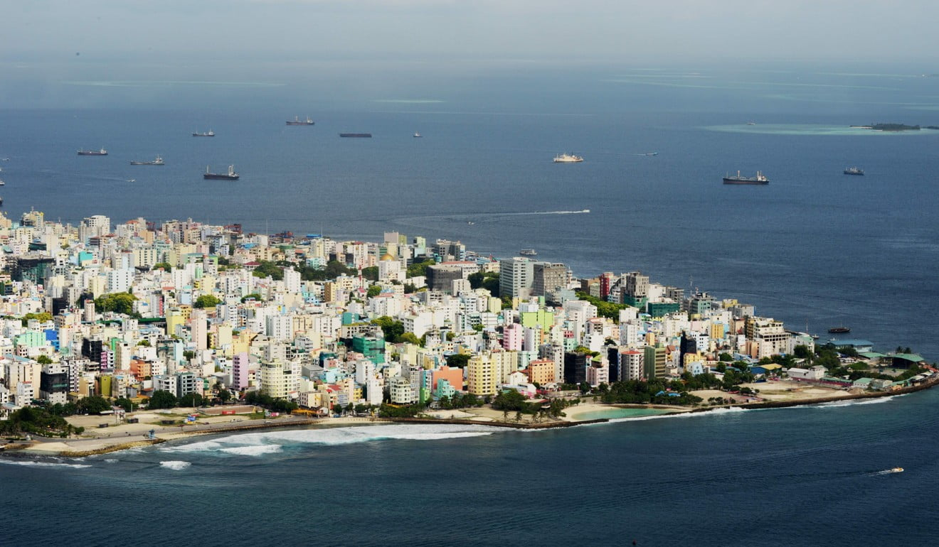An aerial view of the island of Male, capital of the Maldives. The Maldives sought to reassure tourists they would be safe as governments warned their citizens to steer clear of the troubled honeymoon islands amid a spiralling political crisis. Photo: AFP
