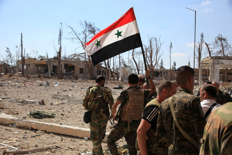 Forces loyal to Syria's President Bashar al-Assad , handout picture provided by SANA on September 5, 2016. / Reuters