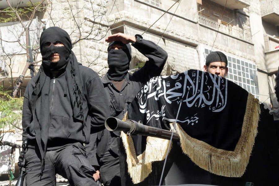 Members of jihadist group Al-Nusra Front / AFP / Karam Al-Masri