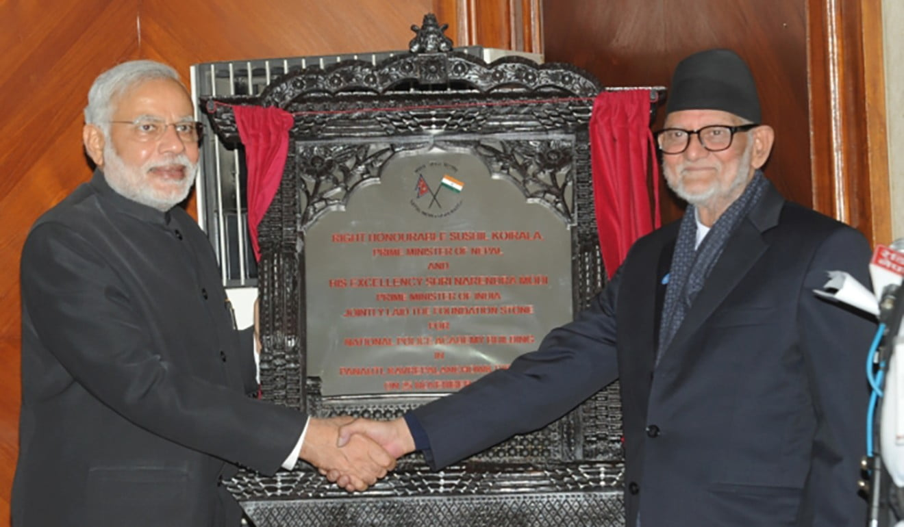 Promises, promises: Narendra Modi unveils plaque for a police academy that was never built.