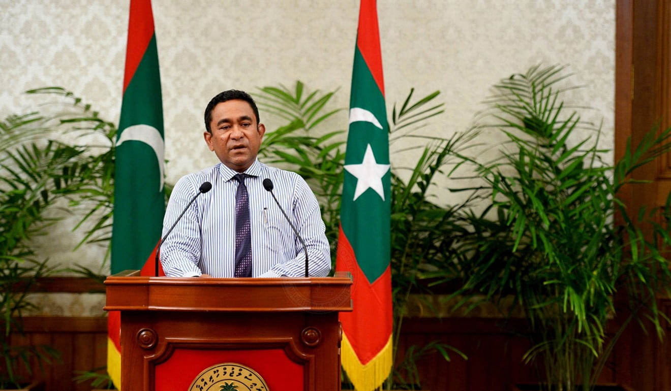 Maldives President Abdulla Yameen declared a 15-day state of emergency, deepening the political crisis in the Indian Ocean nation. Photo: AFP