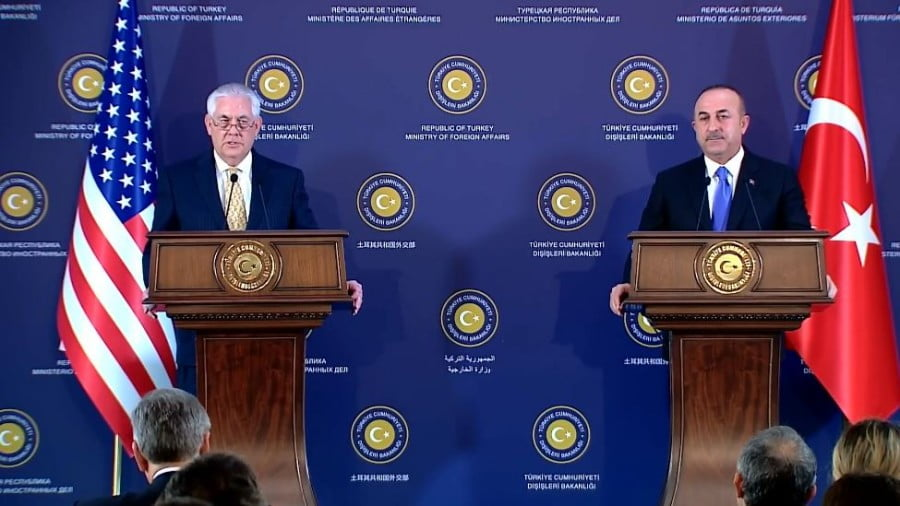 "Tillerson Declares US-Turkey Relations in ""Crisis"""