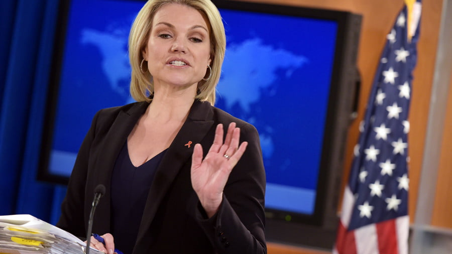State Department Spokesperson Heather Nauert © Mandel Ngan / AFP