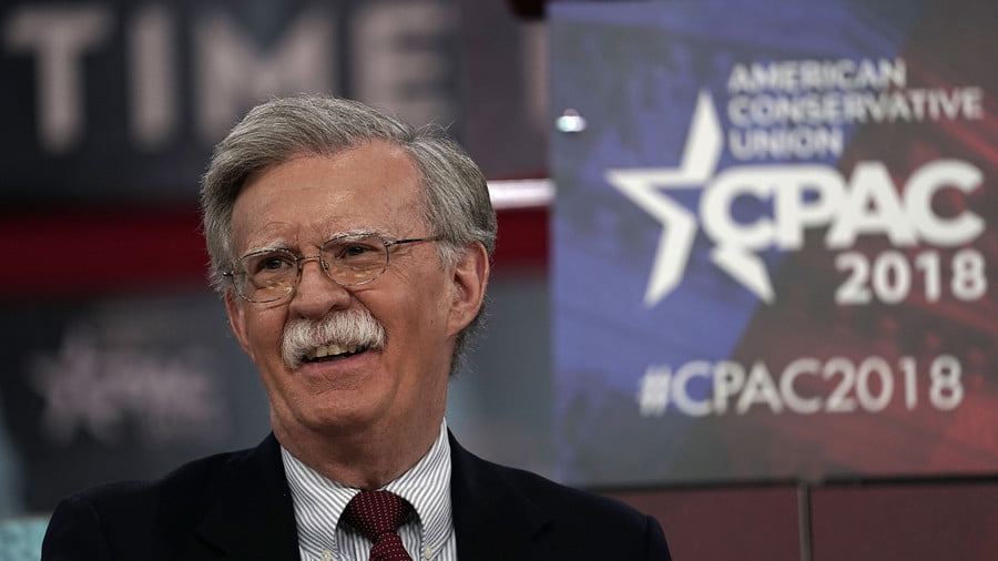 A Bolton From the Blue… Trump's Scary War-Hawk Advisor is So Yesterday's Man