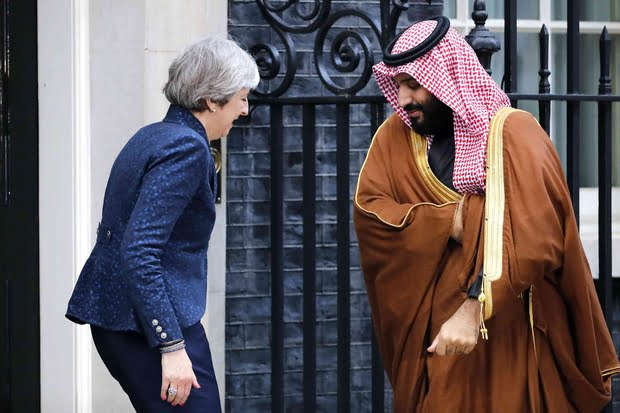 britain27s20prime20minister20theresa20may2028l2920greets20saudi20arabia27s20crown20prince20mohammed20bin20salman2028r2920outside201020downing20street2c20in20central20london