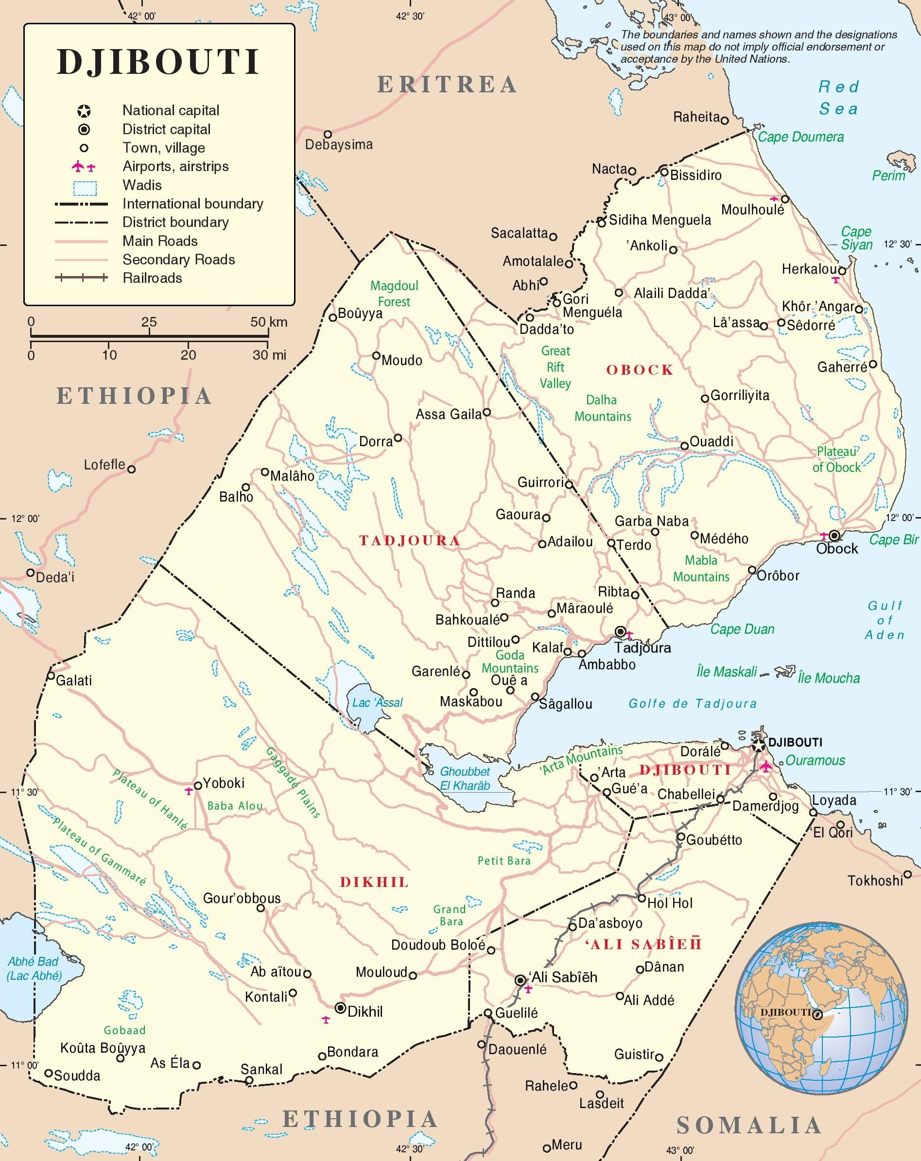 djibouti-political-map