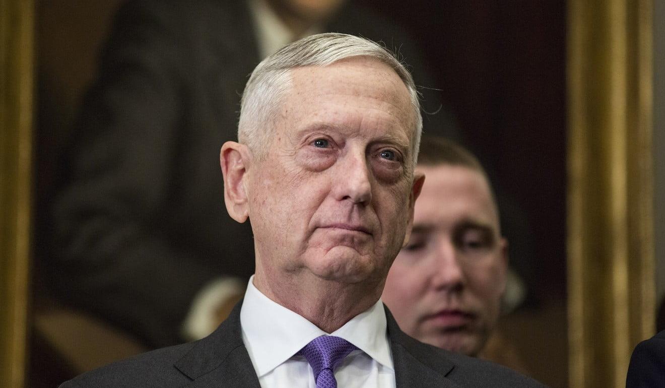 US Defence Secretary Jim Mattis. Photo: Bloomberg