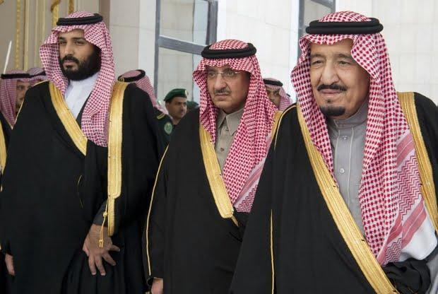 In 2016, Saudi King Salman bin Abdulaziz with then Crown Prince Mohammed bin Nayef and deputy Crown Prince Mohammed bin Salman (AFP)