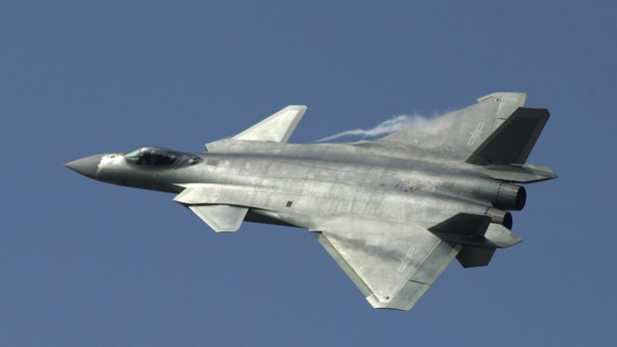 China's new J-20 stealth fighter was placed into combat service in February. AAP/EPA