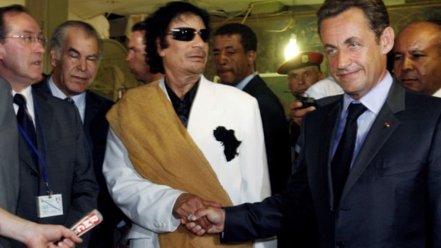 Gaddafi's Ghost Haunts Walking-Dead King Sarko