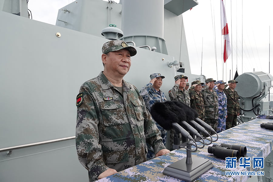Xi Jinping addresses PLA Navy personnel from the Changsha. Photo: Xinhua