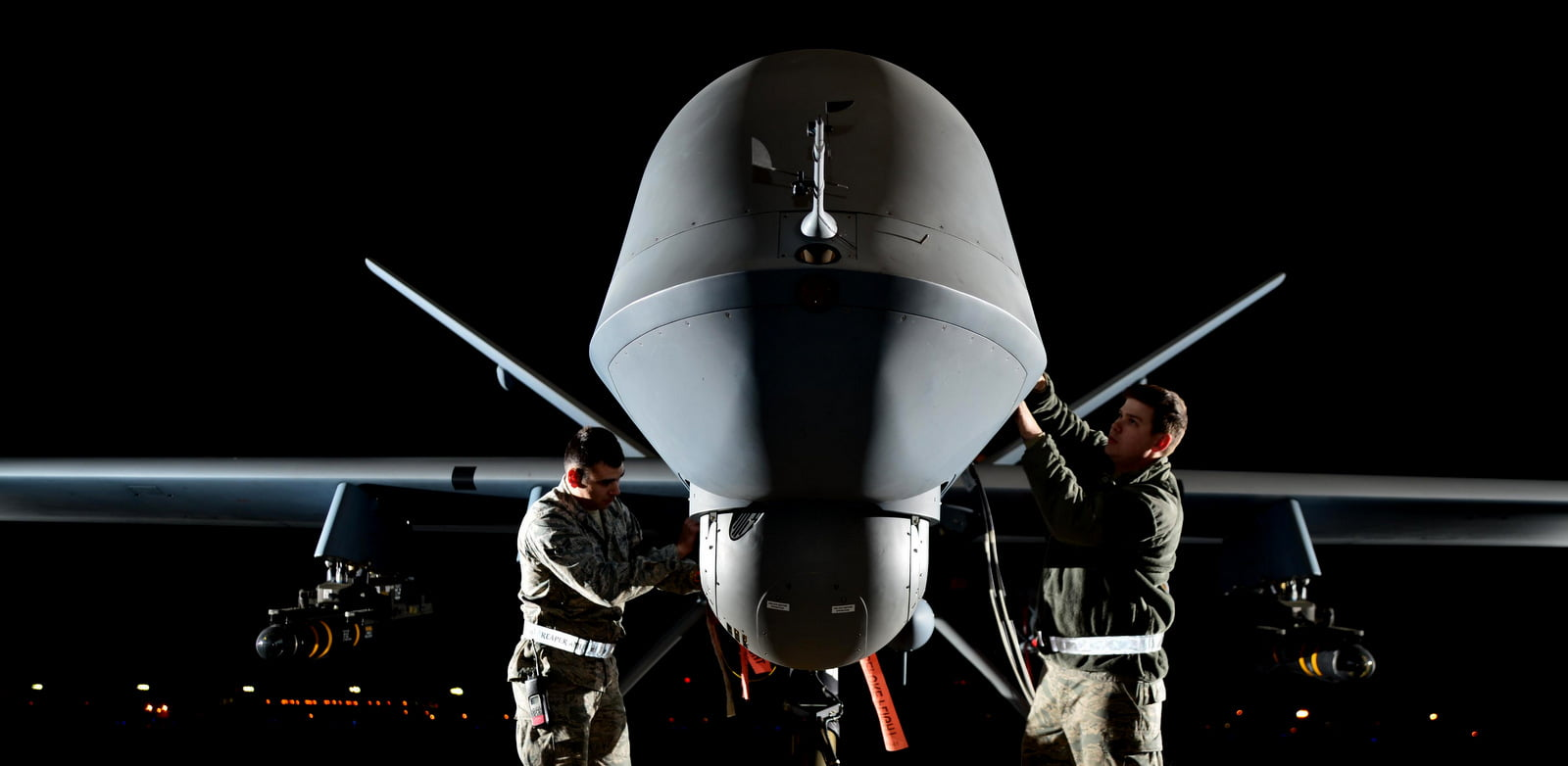An Air Force RPA reconnaissance drone is retrofitted for use in attack squadron. (Photo: U.S. Air Force)