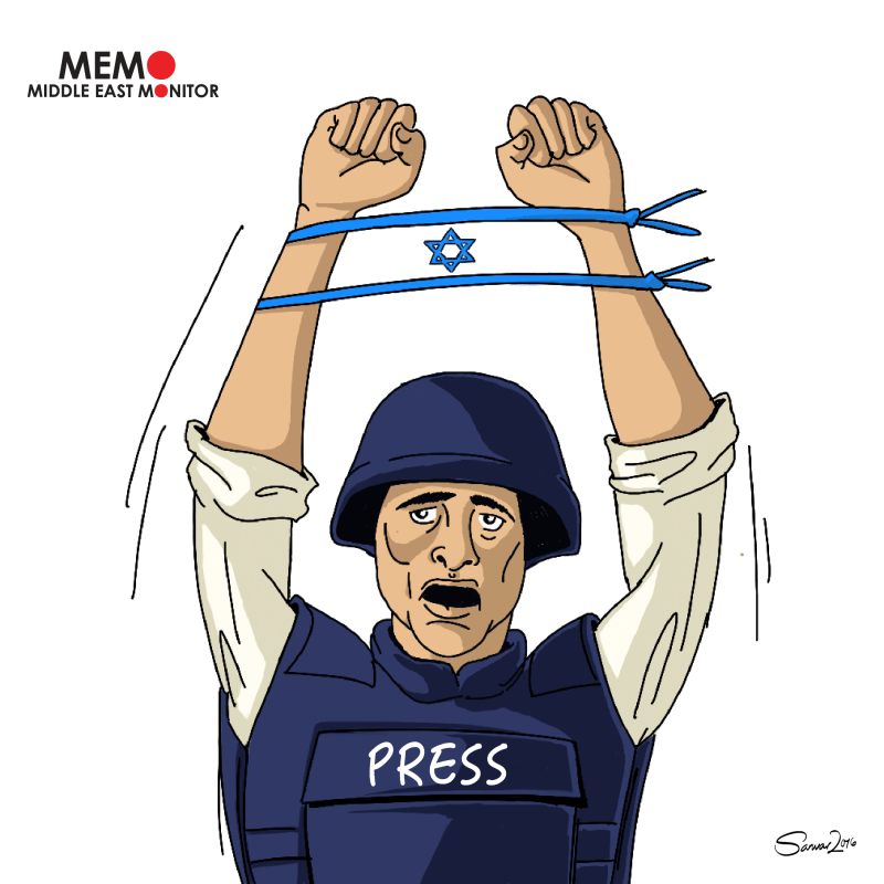 Palestinian Journalists Arrested by Israel – Cartoon [Sarwar Ahmed/MiddleEastMonitor]