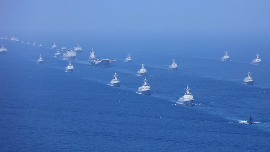 Xi Reviews China's Biggest Naval Parade 'in 600 Years'