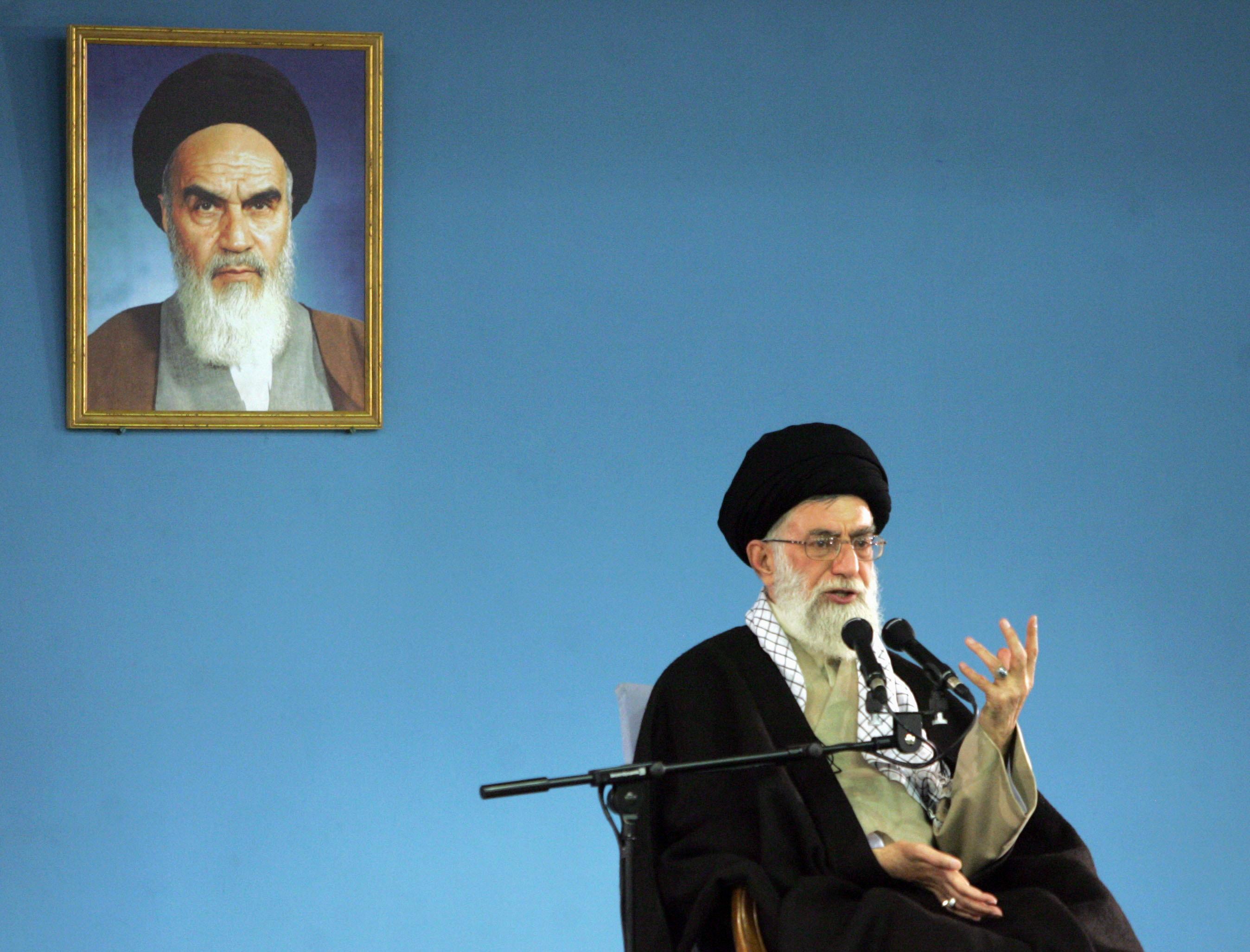 Iranian supreme leader Ayatollah Ali Kha