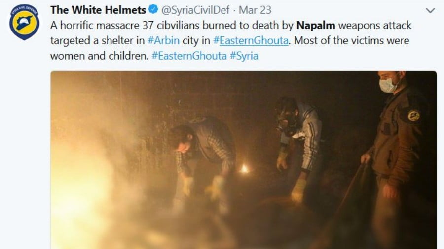 SYRIA: The Egregious Western Media 'Chemical Weapon' Fraud in Eastern Ghouta
