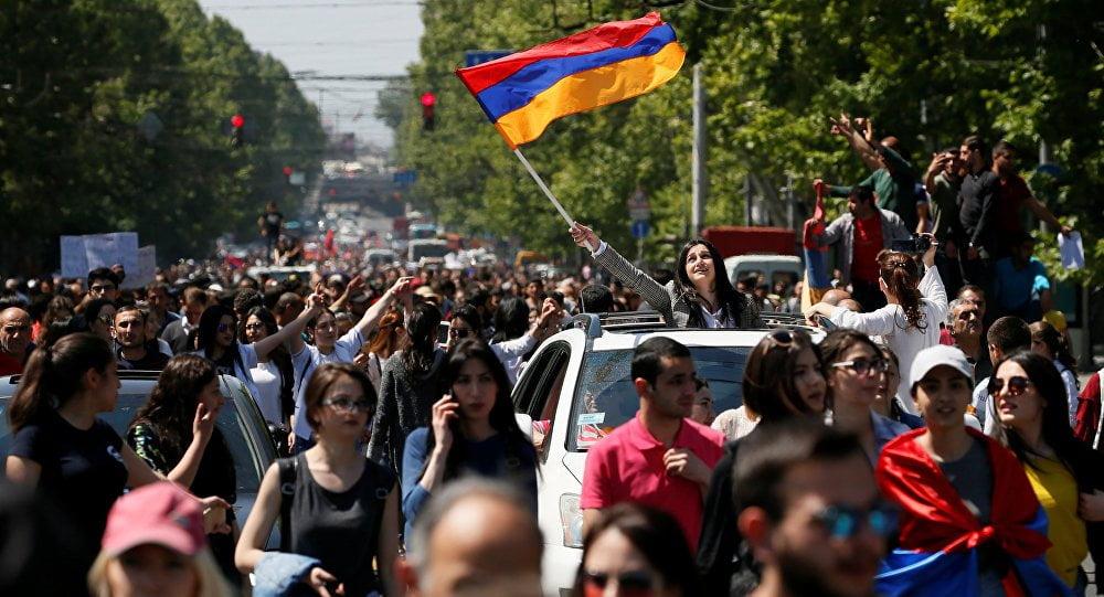 Armenian protests, Velvet Revolution, April 2018