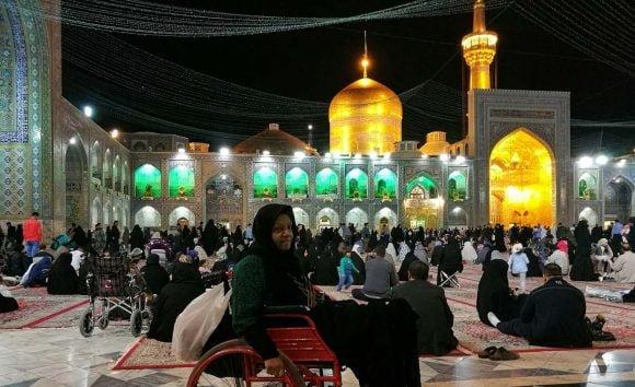 Night activities at Imam Reza shrine in Mashhad. Photo: Asia Times/Pepe Escobar