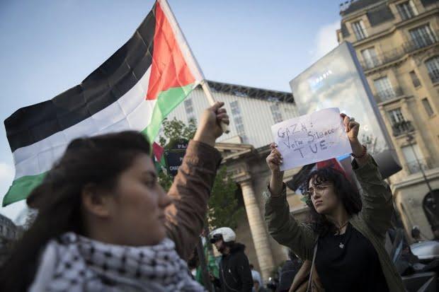 FRANCE-US-ISRAEL-PALESTINIANS-CONFLICT-DEMO