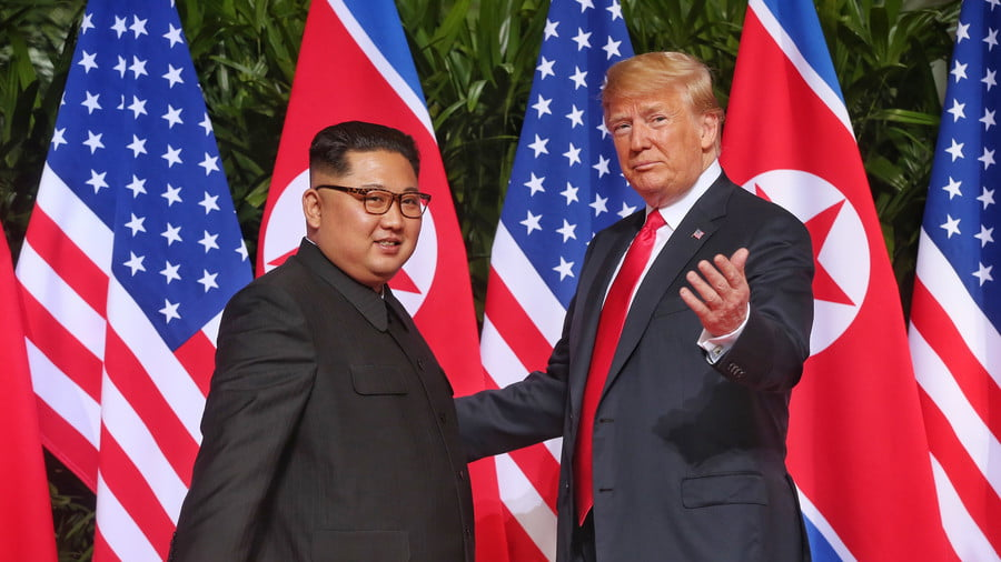 Kim Jong-un and Donald Trump, Singapore, June 12, 2018 © The Straits Times / Global Look Press