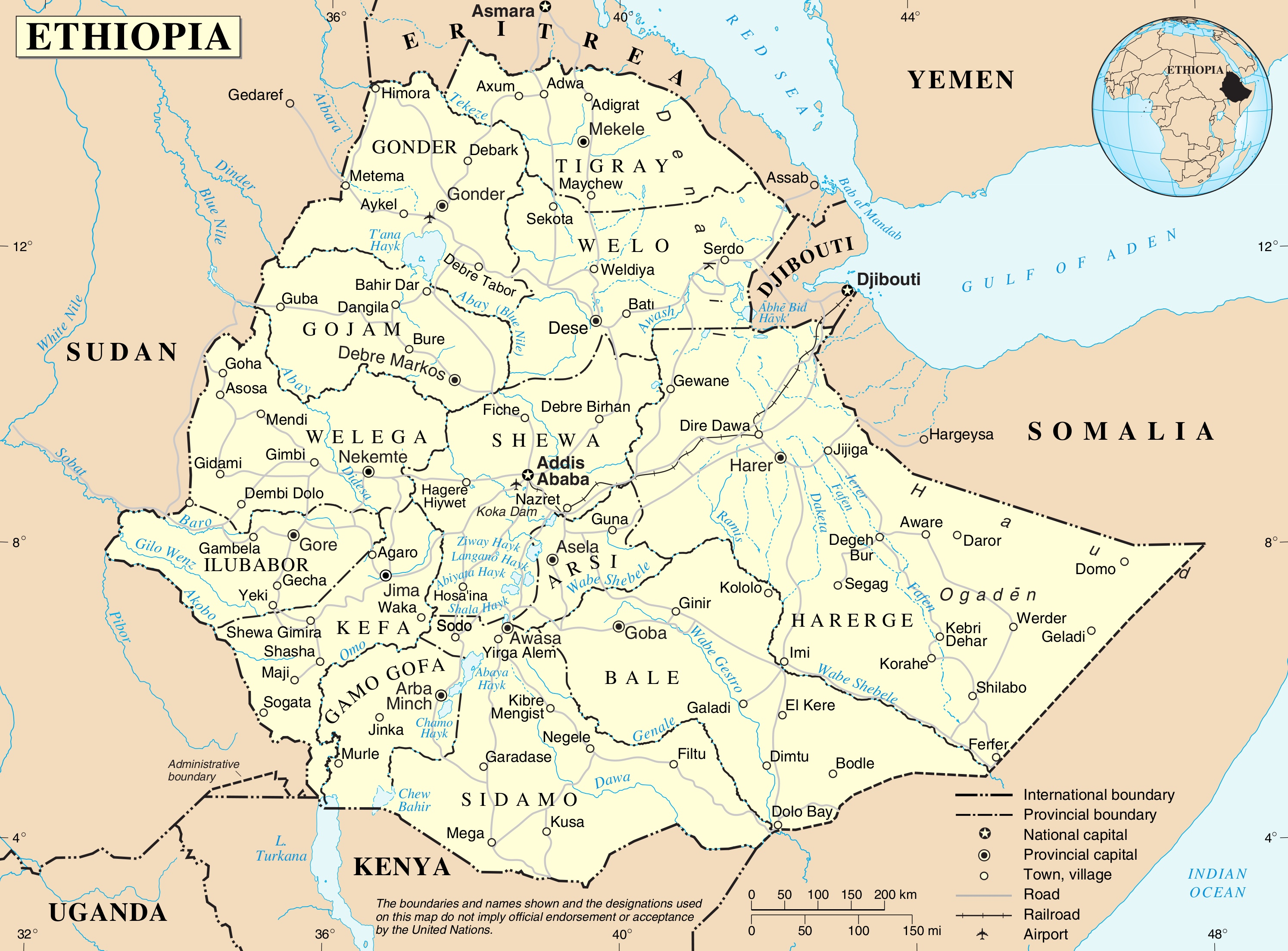 ethiopia-political-map