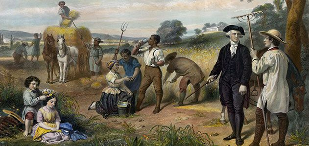 G. Washington overseeing slaves. A routine task of all white colonial masters.
