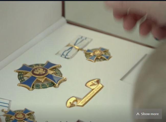 Mrs Cherenkova's medals