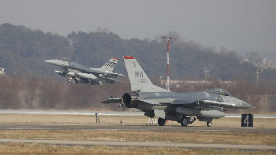 US Air Force F-16 fighter jets take part in a joint drills at Osan Air Base in Pyeongtaek, South Korea last December. The war games are set to end, but will the US fully withdraw from the peninsula? Photo: AFP/ pool/ Kim Hong-ji