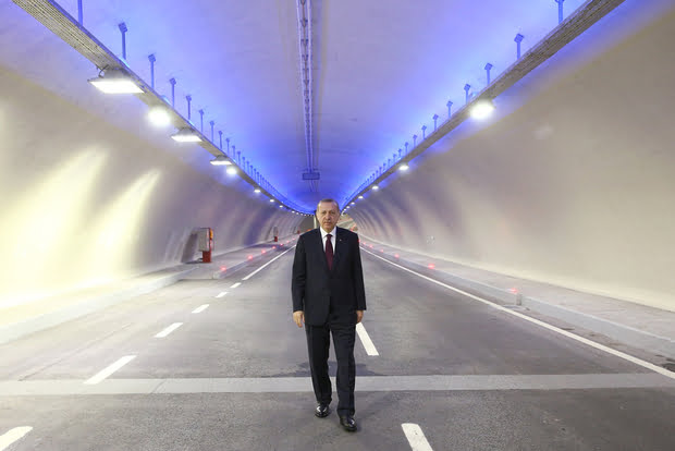 Turkish President Recep Tayyip Erdogan, photographed at the opening of the Bosphorus tunnel in December 2016 (AFP)