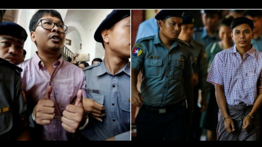 Myanmar is still detaining and prosecuting two Reuters journalists who attempted to uncover the extent of the army's crimes. (Photo: File)