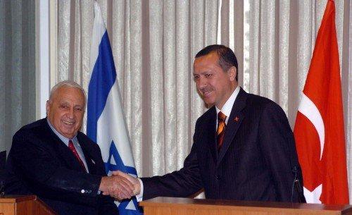 Erdogan and Ariel Sharon (2004)