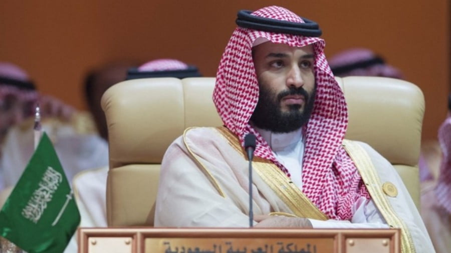 Saudi Crown Prince Mohammed bin Salman is pictured at the Arab League Summit in Dhahran on 15 April 2018 (Bandar al-Jaloud/Saudi Royal Palace/AFP)