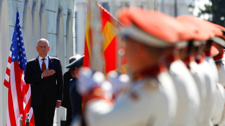 US Secretary of Defense James Mattis in Skopje, Macedonia, September 17, 2018 © Ognen Teofilovski / Reuters