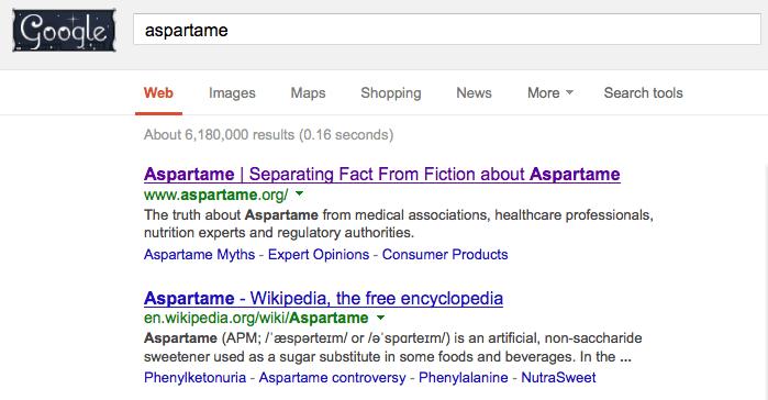 aspartame_google