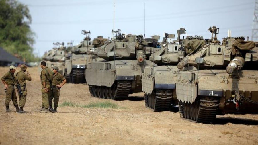 """All-Out War"" Coming: Record Number of Israeli Tanks Amassed on Gaza Border"