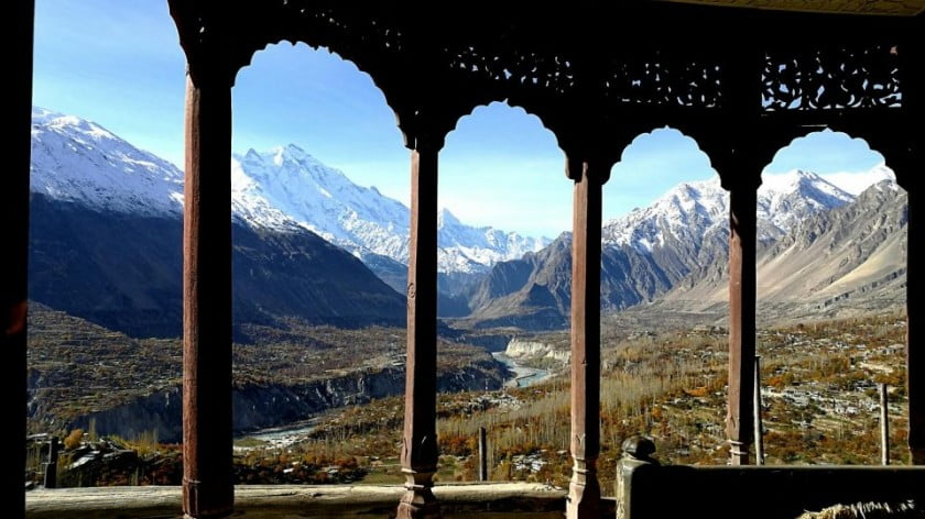The glorious view of the Hunza Valley and snow-capped mountains from the top of Baltit Fort. Photo: Asia Times