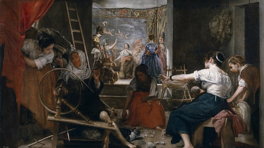 Diego Velázquez The Spinners 1655-60
