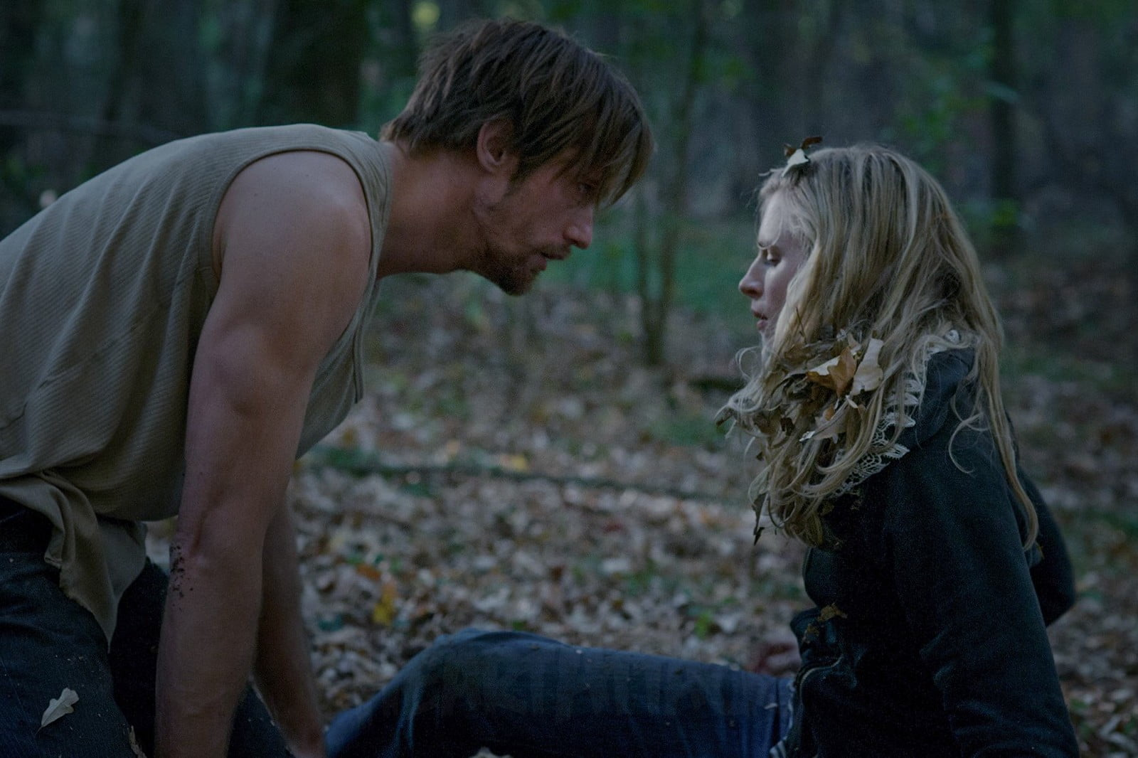 Britt Marling and Alexander Skarsgård in The East