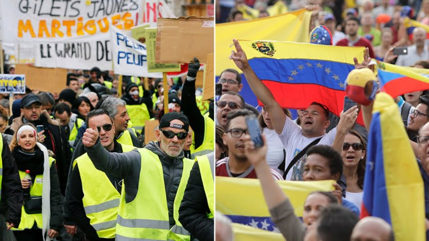 Repeat After Me, Protests in Venezuela Good, Protests in France Bad!