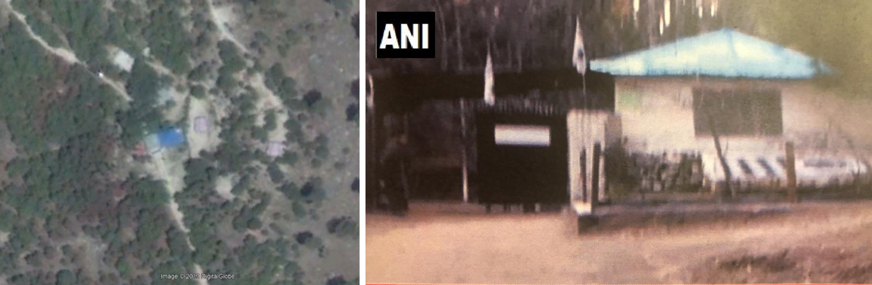 Comparison between ground-level and satellite imagery. (Sources: Google Maps, @ANI/archive)