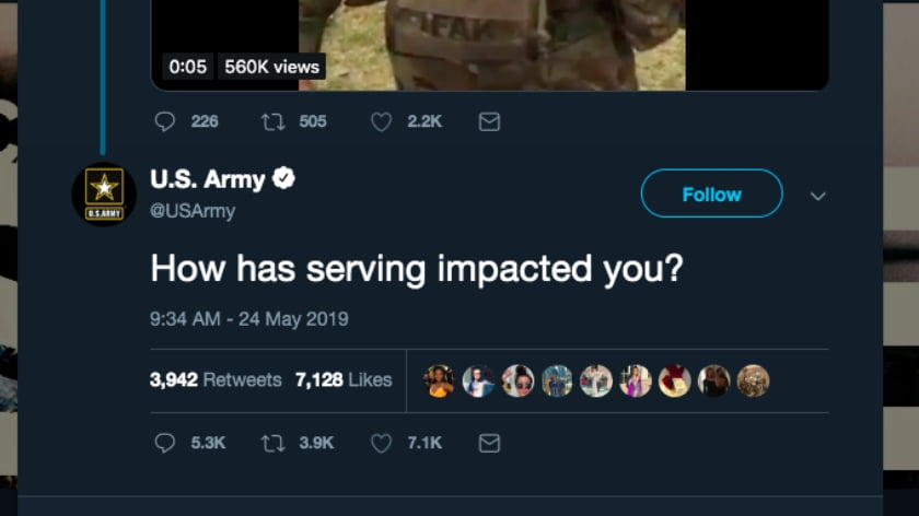 The US Army Asked Twitter How Service has Impacted People. The Answers were Gut-Wrenching