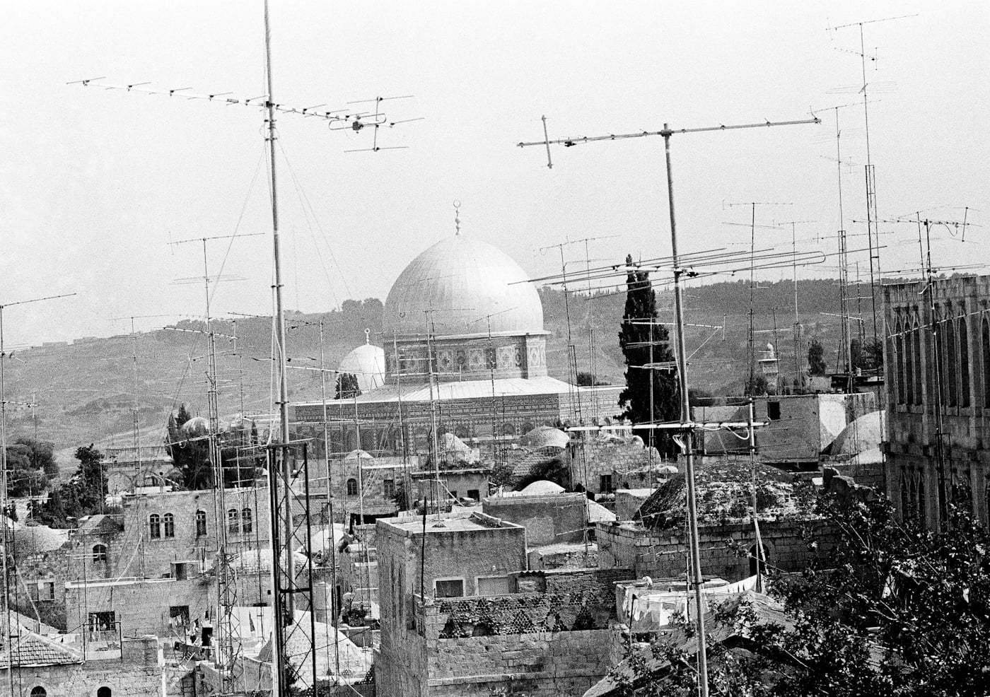 The famous Dome of the Rock on the Temple Mount, at center, and the dome of Al-Aqsa Mosque pictured on May 15, 1976. Horst Faas | AP