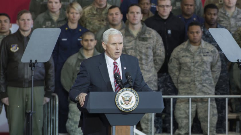 Brainwashing in Action: Pence Hails Virtue of 'Certain War'