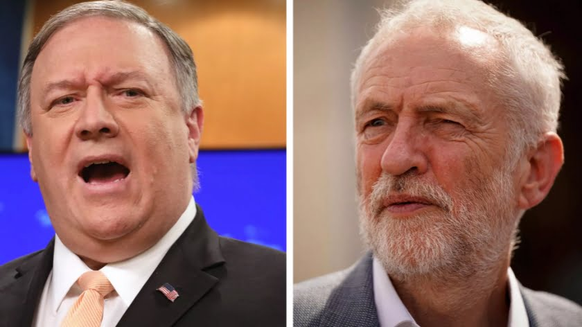 "Uh… What Did Pompeo Mean When He Vowed to ""Push Back"" Against Corbyn?"
